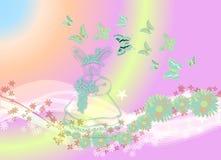Butterflys toda ao redor 1 Imagens de Stock