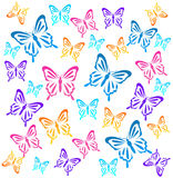 Butterflys. Vector illustration Stock Images