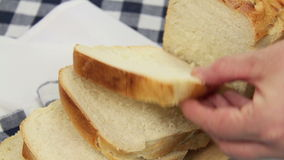 Buttering Bread stock video