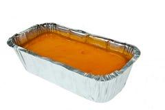 Butterkuchenspitze mit Geleeorange lizenzfreie stockfotografie