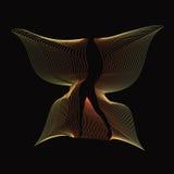 Butterlfy siluetted muchacha atractiva con las alas de oro Imagen de archivo libre de regalías