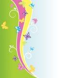 Butterly Frühling Hintergrund Stockfotos