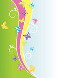 Butterly spring Background. A colourful butterfly spring background with copy-space Stock Photos