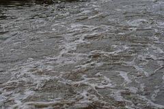 BUTTERMENGEwasser MIT SCHAUM stockfoto