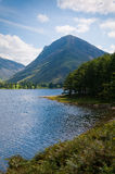 Buttermere. And Fleetwith Pike in the English Lake District, Cumbria royalty free stock photos