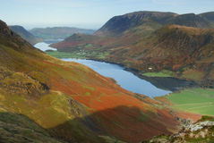 Buttermere. Looking across the Buttermere Valley stock images