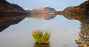 Buttermere Cumbria. Early morning picture of Buttermere stock image