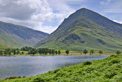 Buttermere & Fleetwith Pike. The Western end of Buttermere in the English Lake District with Fleetwith Pike rising beyond royalty free stock photography
