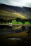 Buttermere Lake in Autumn. Cumbria UK royalty free stock photography