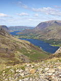 Buttermere lake district cumbria mountain view. Scenic royalty free stock photo