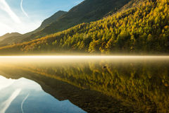 Buttermere Lake. The Hills by Buttermere Lake late autumn royalty free stock images