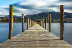 Derwentwater Lingholm Jetty. The longest Jetty at Derwentwater Lake District stop for the Lingholm Estate Royalty Free Stock Photos