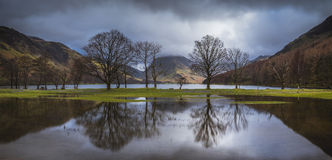 Buttermere Relections Royaltyfria Bilder