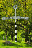 Buttermere Roadsign, het UK Royalty-vrije Stock Foto's