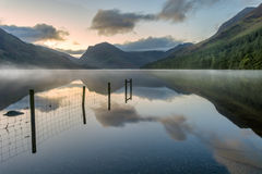 Buttermere sunrise, Lake District, UK. Royalty Free Stock Photography