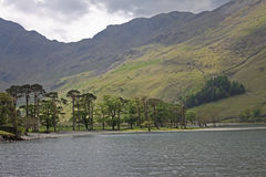 Buttermere, view of lake and fells Stock Photos