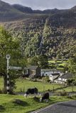 Buttermere village with road sign Stock Photography