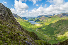 Buttermere and Warnscale Bottom from Green Crag. The Lake District, Cumbria, England royalty free stock photos