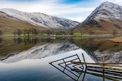 Buttermere Winter Reflections. Royalty Free Stock Images