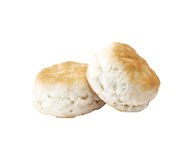Buttermilk Biscuits. Two buttermilk biscuits on a white background Stock Images