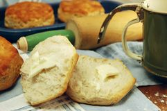 Buttermilk Biscuits royalty free stock photography