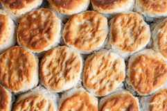 Buttermilk biscuits. Detail of buttermilk biscuits, bread Stock Photo