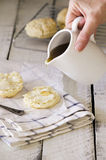 Buttermilk Biscuits with Honey Stock Photography