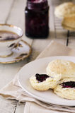 Buttermilk Biscuits with Jam Royalty Free Stock Photos