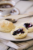 Buttermilk Biscuits with Jam Royalty Free Stock Images