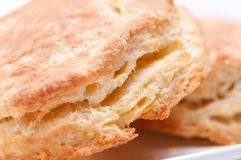 Buttermilk biscuits. Some fresh home made flaky buttermilk biscuits Stock Photos