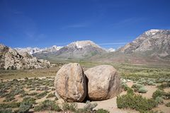 Buttermilk Boulders Near Bishop Stock Photography