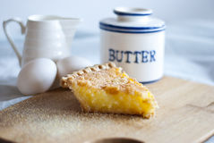 Buttermilk Chess Pie stock photo