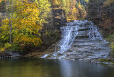 Buttermilk Falls Autumn HDR stock images
