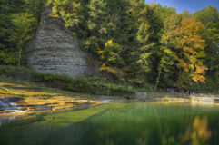 Buttermilk Falls. State Park in Ithaca. Part of the Finger Lakes Region of New York State. Early Autumn Stock Photos