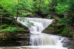 Buttermilk falls trail - Waterfalls Royalty Free Stock Image