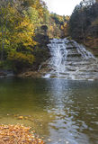 Buttermilk Falls Vertical Panorama royalty free stock images