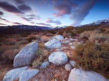Buttermilk Hill in Bishop California stock photography