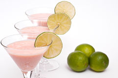 Buttermilk, lime and papaya cocktail Royalty Free Stock Photos