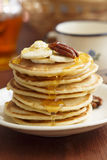 Buttermilk pancakes royalty free stock photography