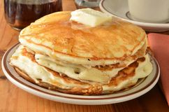 Buttermilk pancakes closeup Stock Photography