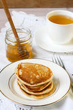 Buttermilk rye pancakes Stock Images