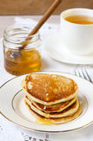 Buttermilk rye pancakes Royalty Free Stock Images