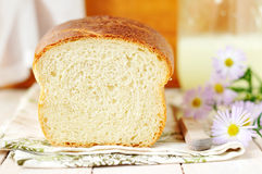 Buttermilk white bread cut Royalty Free Stock Photos