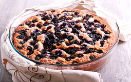 Buttermilk wholewheat cake with berries Royalty Free Stock Photos