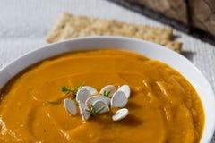 Butternut Ginger Soup Lizenzfreies Stockfoto