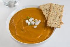 Butternut Ginger Soup Lizenzfreie Stockfotos