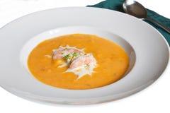 Butternut-Kürbis-Suppe Stockbilder
