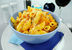 Butternut Penne Pasta Royalty Free Stock Photography