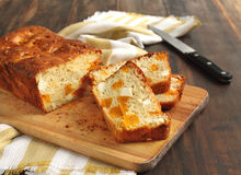 Butternut pumpkin and feta loaf. On the table Stock Photos