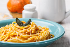 Butternut pumpkin pasta Royalty Free Stock Photo